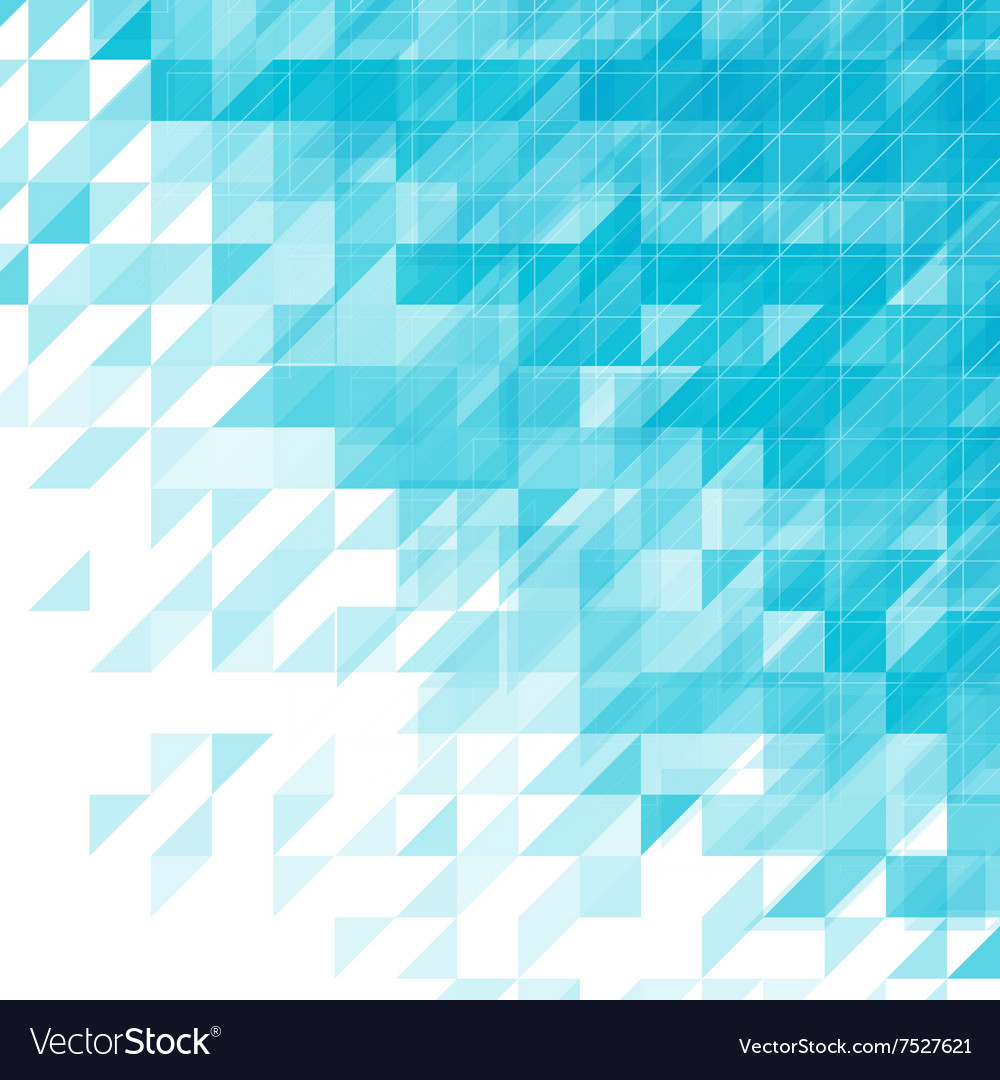 Light Blue Triangular Abstract Background