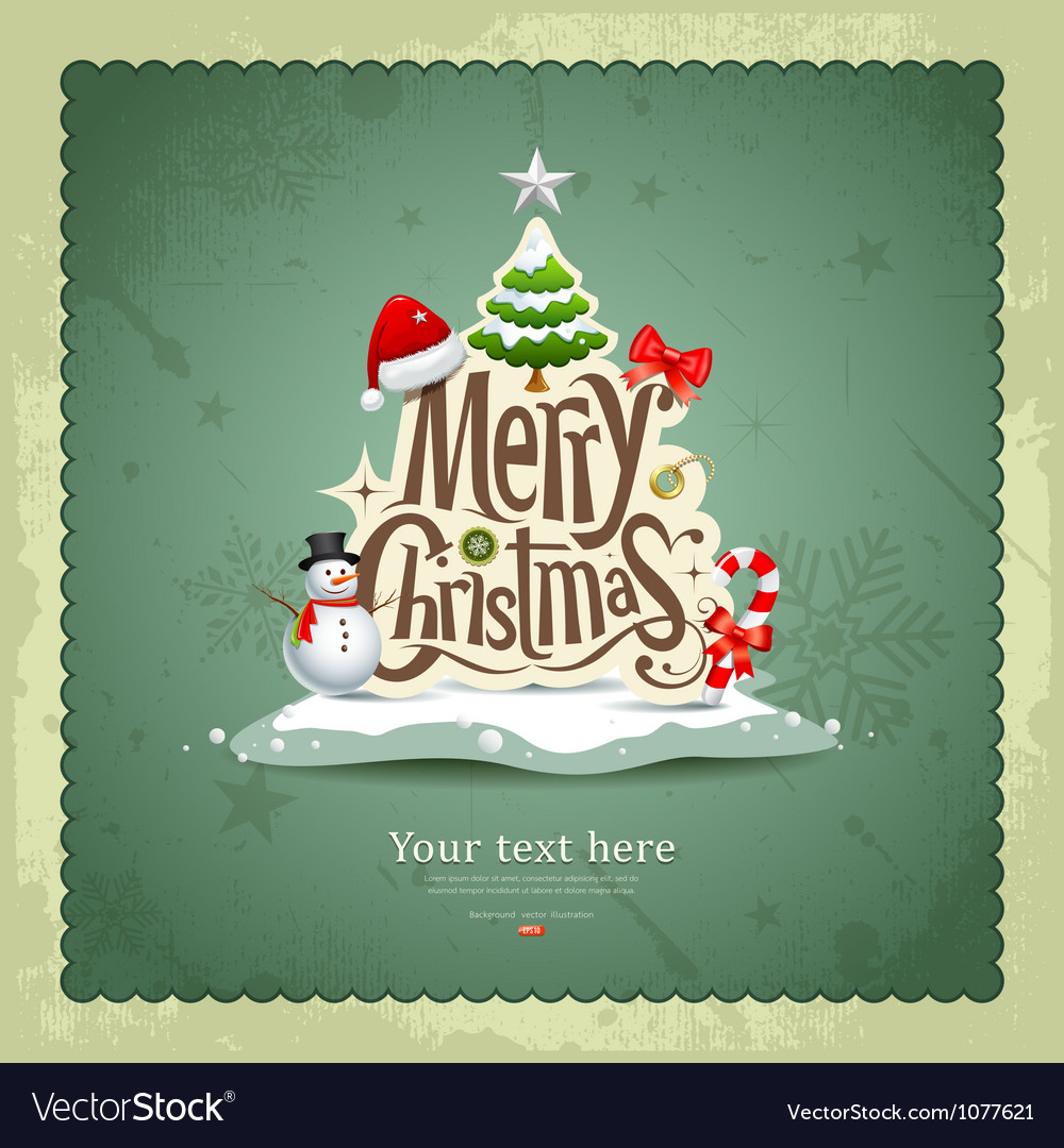 Vintage Merry Christmas.Merry Christmas Vintage Design