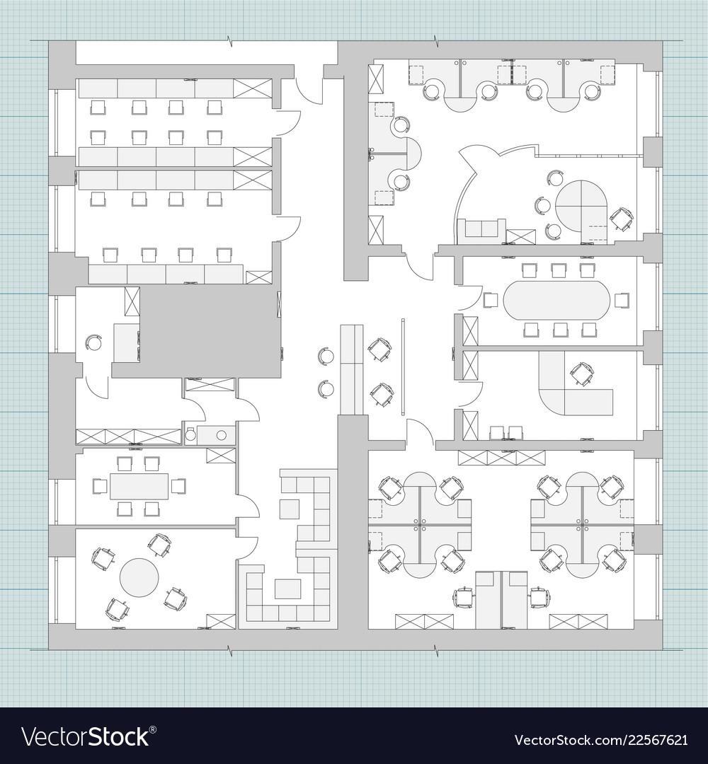 office furniture symbols on floor plans