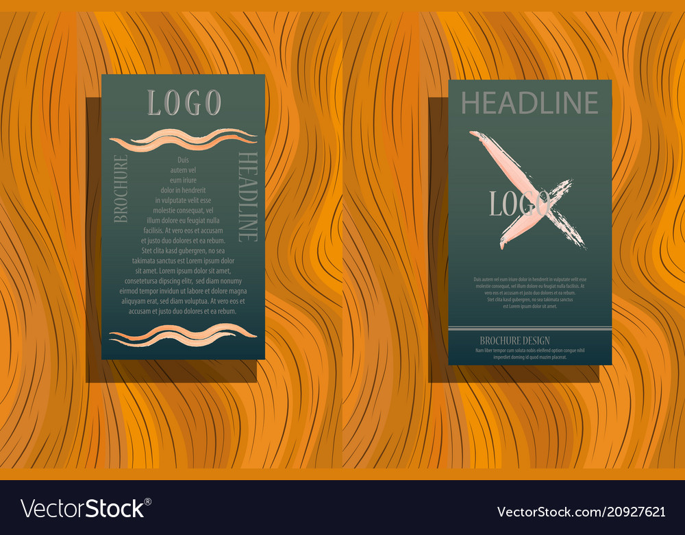 Stationery template design with triangles vector image