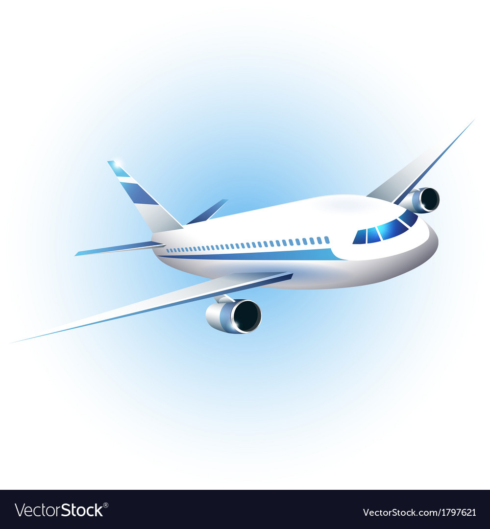 The airplane vector image