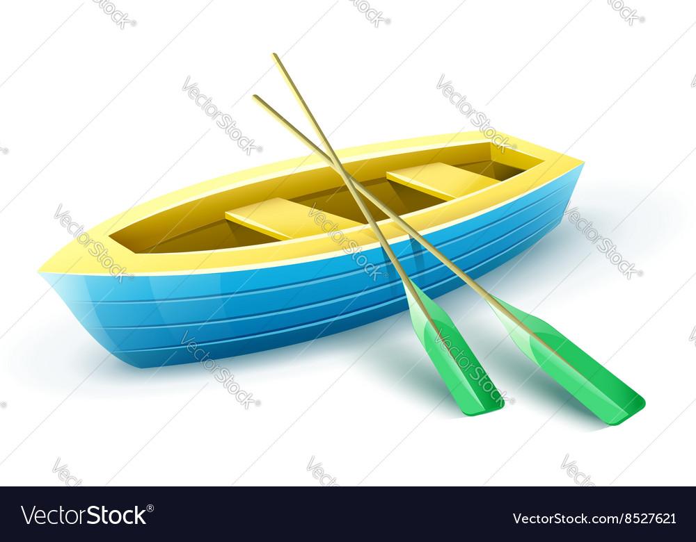 Wooden fishermans boat