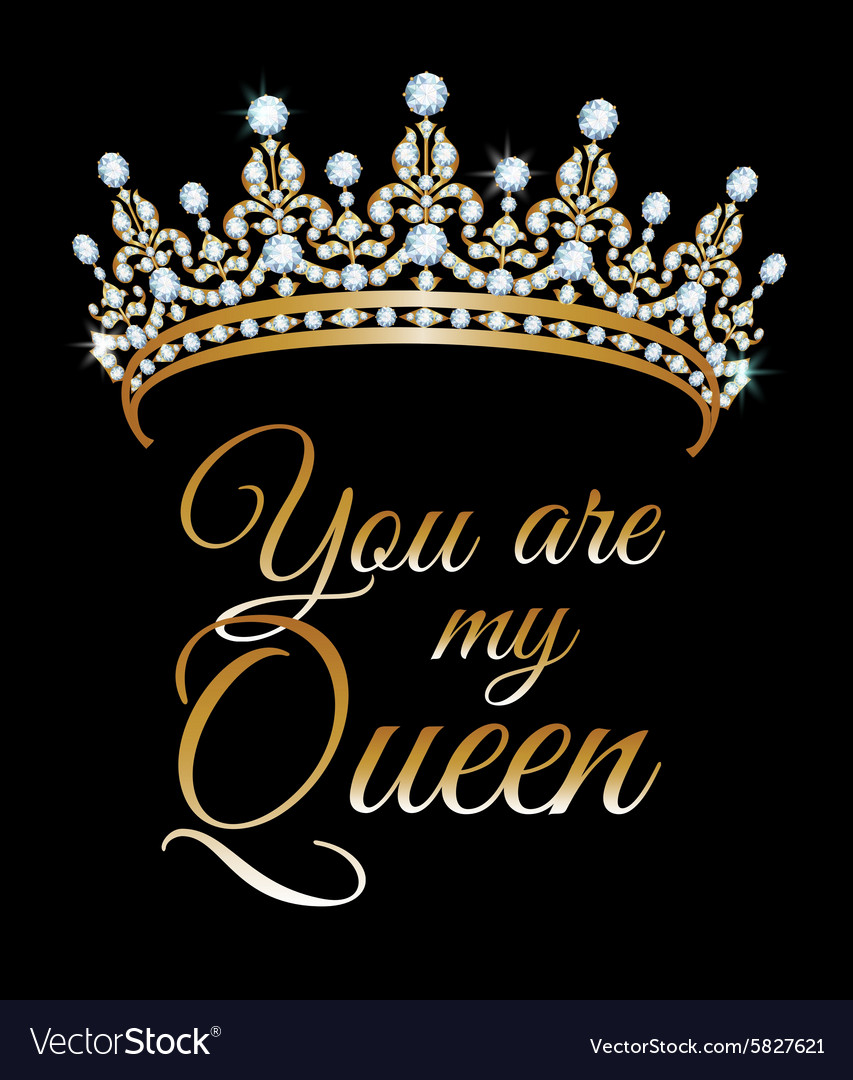 You are my queen vector image