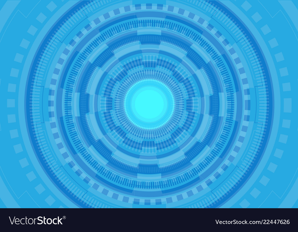 Abstract blue circle circuit futuristic technology