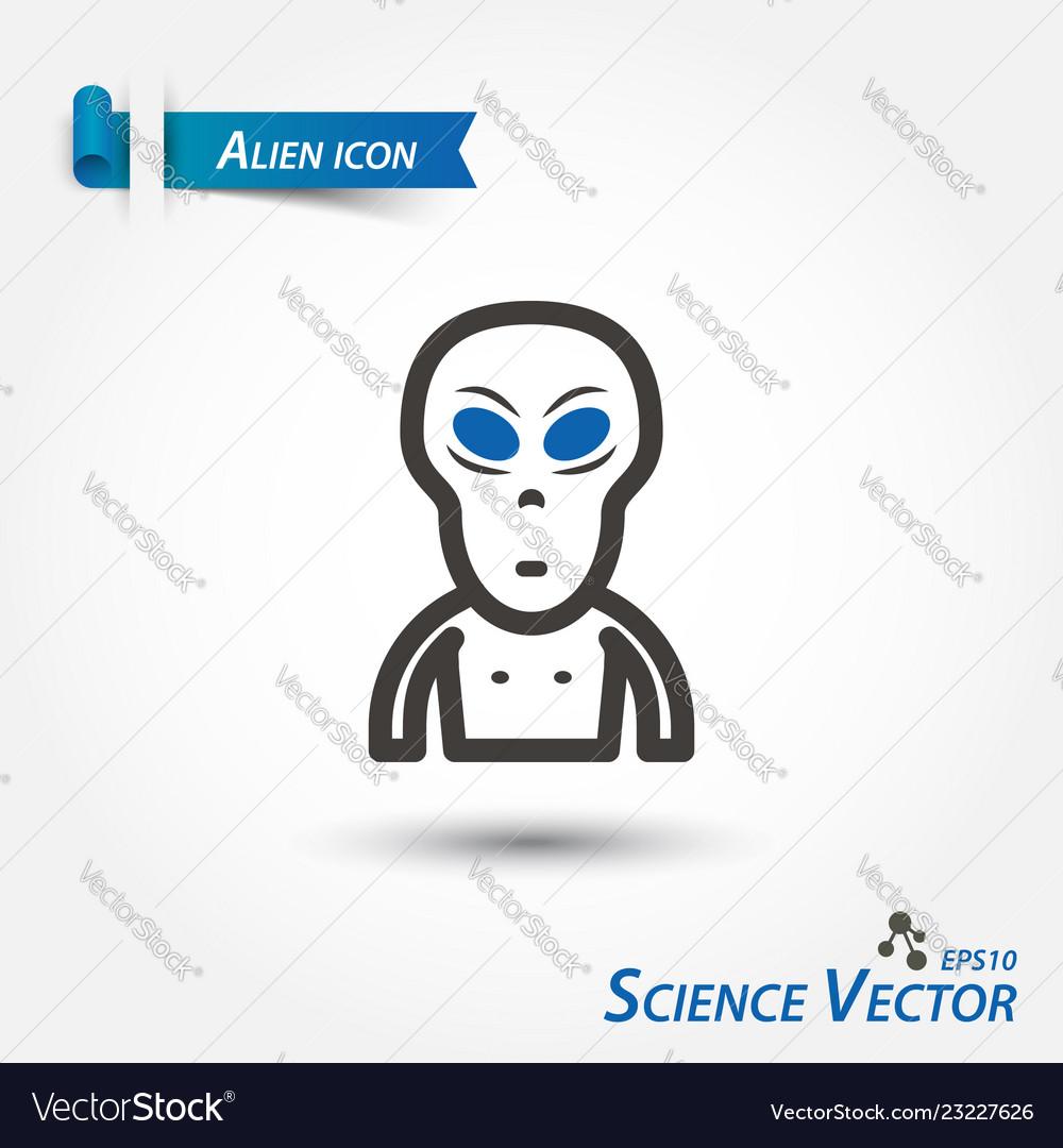 Alien icon scientific