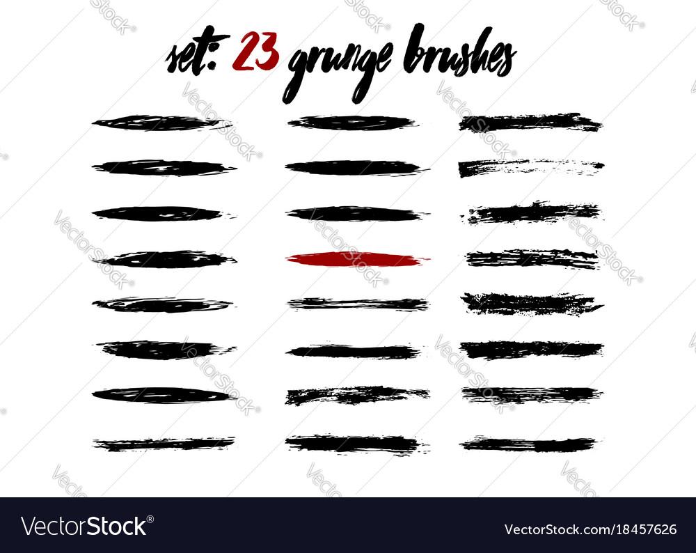Brush black frame collection