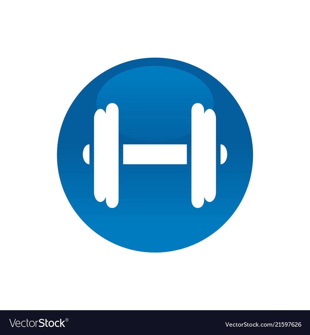 Circle with dumbell gym logo icon