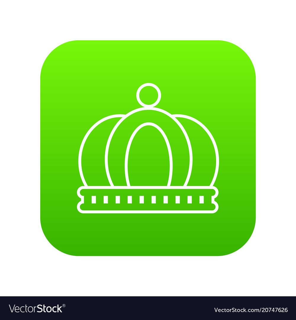 Empire crown icon green