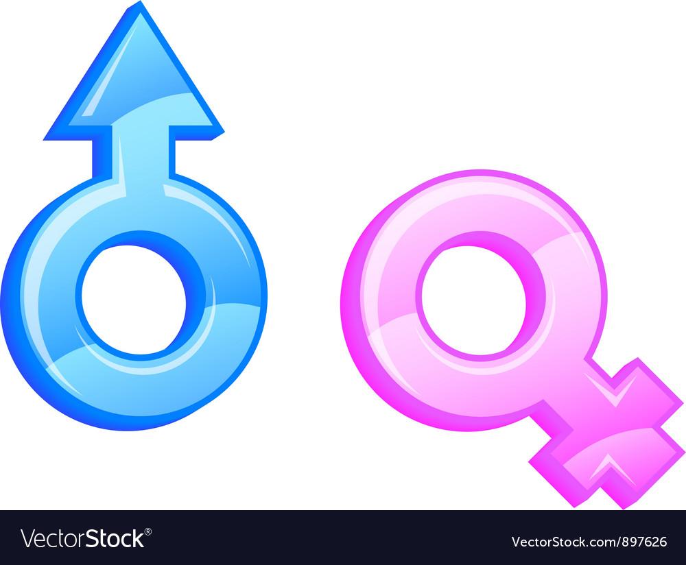 Gender Symbols Royalty Free Vector Image Vectorstock
