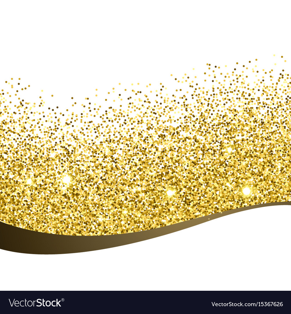 golden glitter background design royalty free vector image