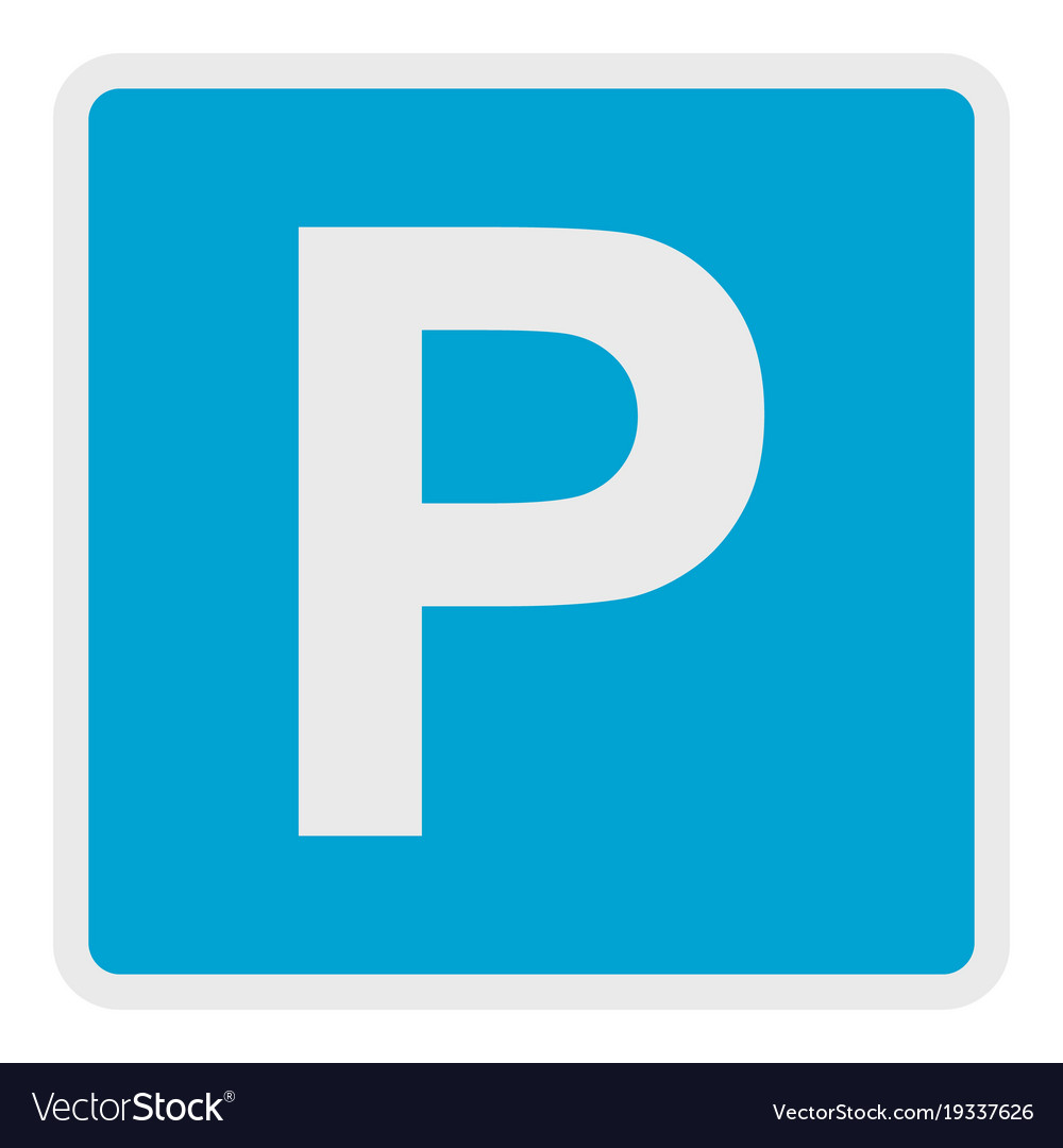 Parking place icon flat style