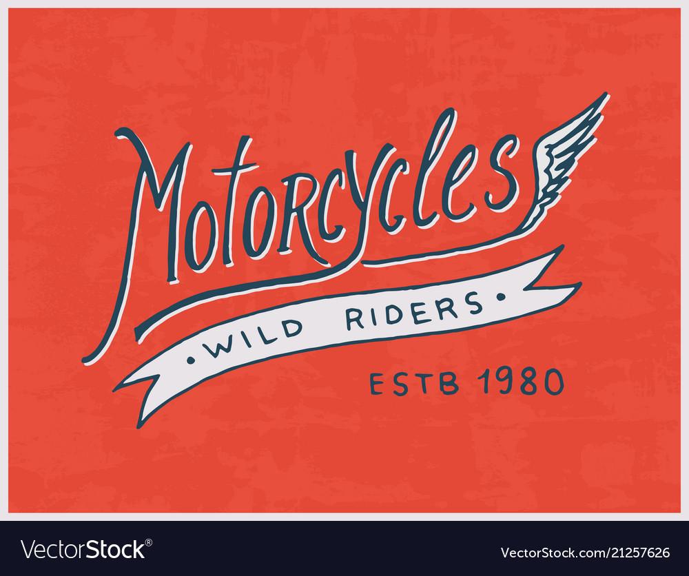 Rider or biker club template vintage custom