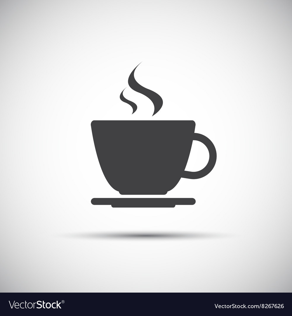 Simple coffee icon isolated on white background