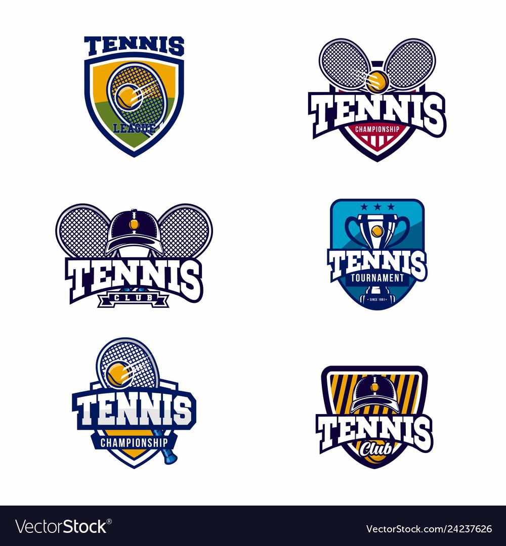 Tennis logo badge