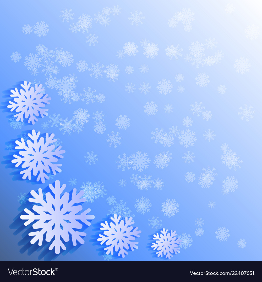 Abctract background white papercut snowflakes