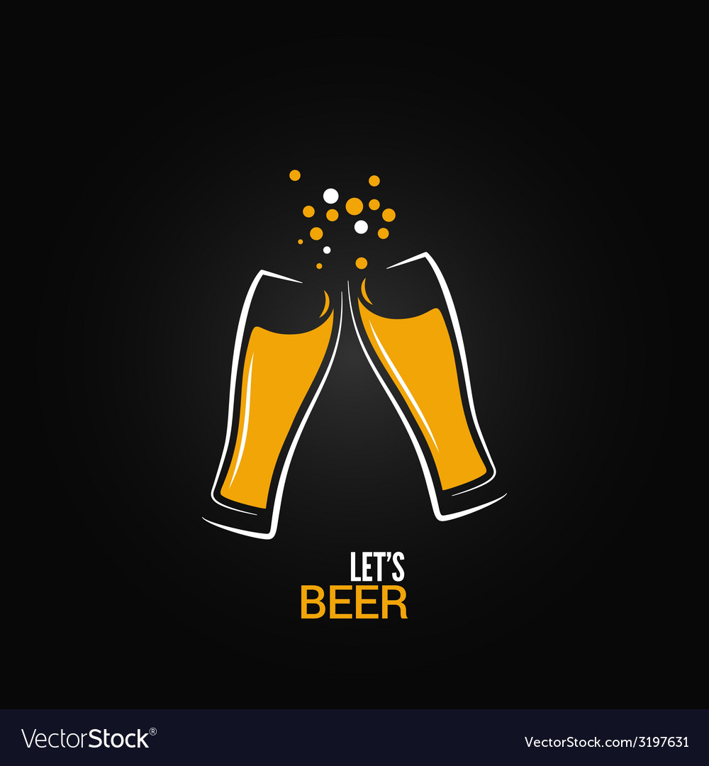 Beer glass drink splash design background vector image