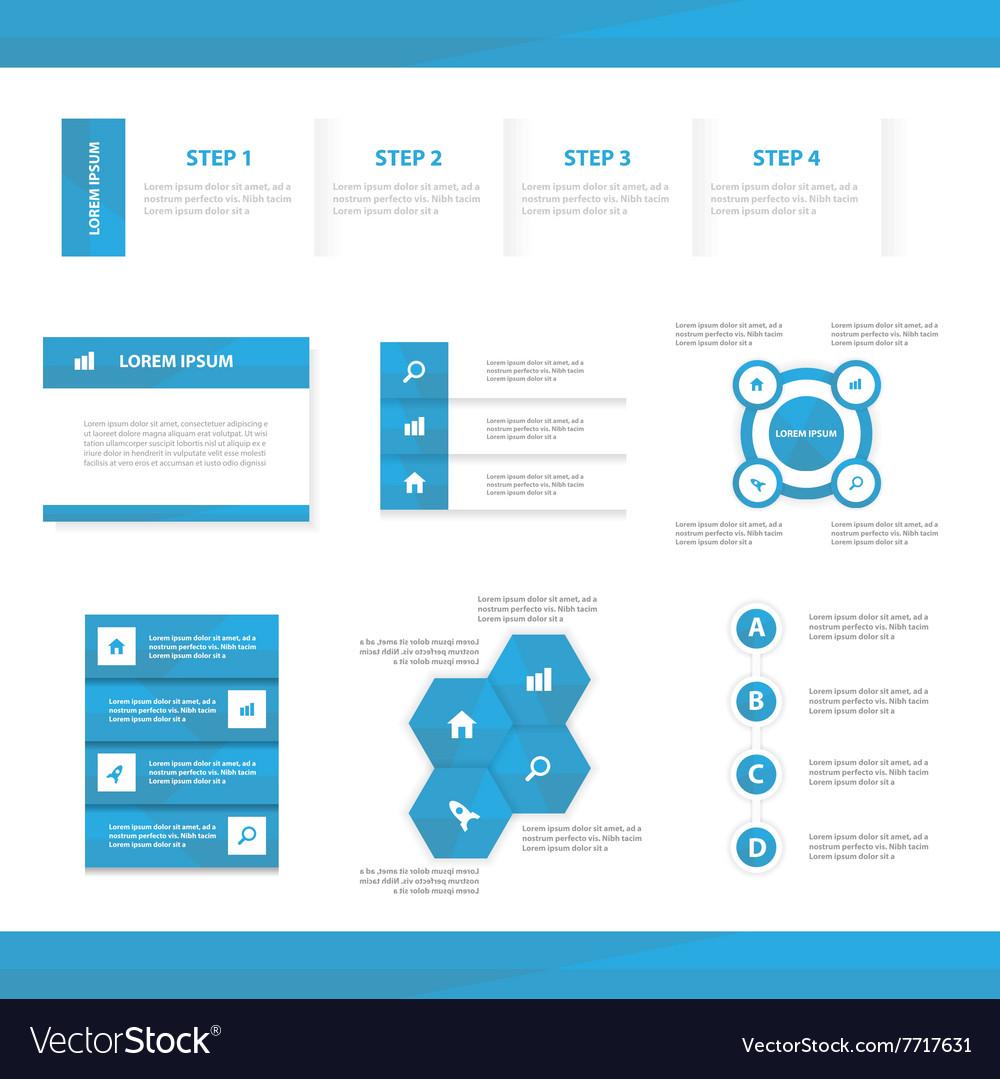 Blue multipurpose website templates infographic vector image maxwellsz
