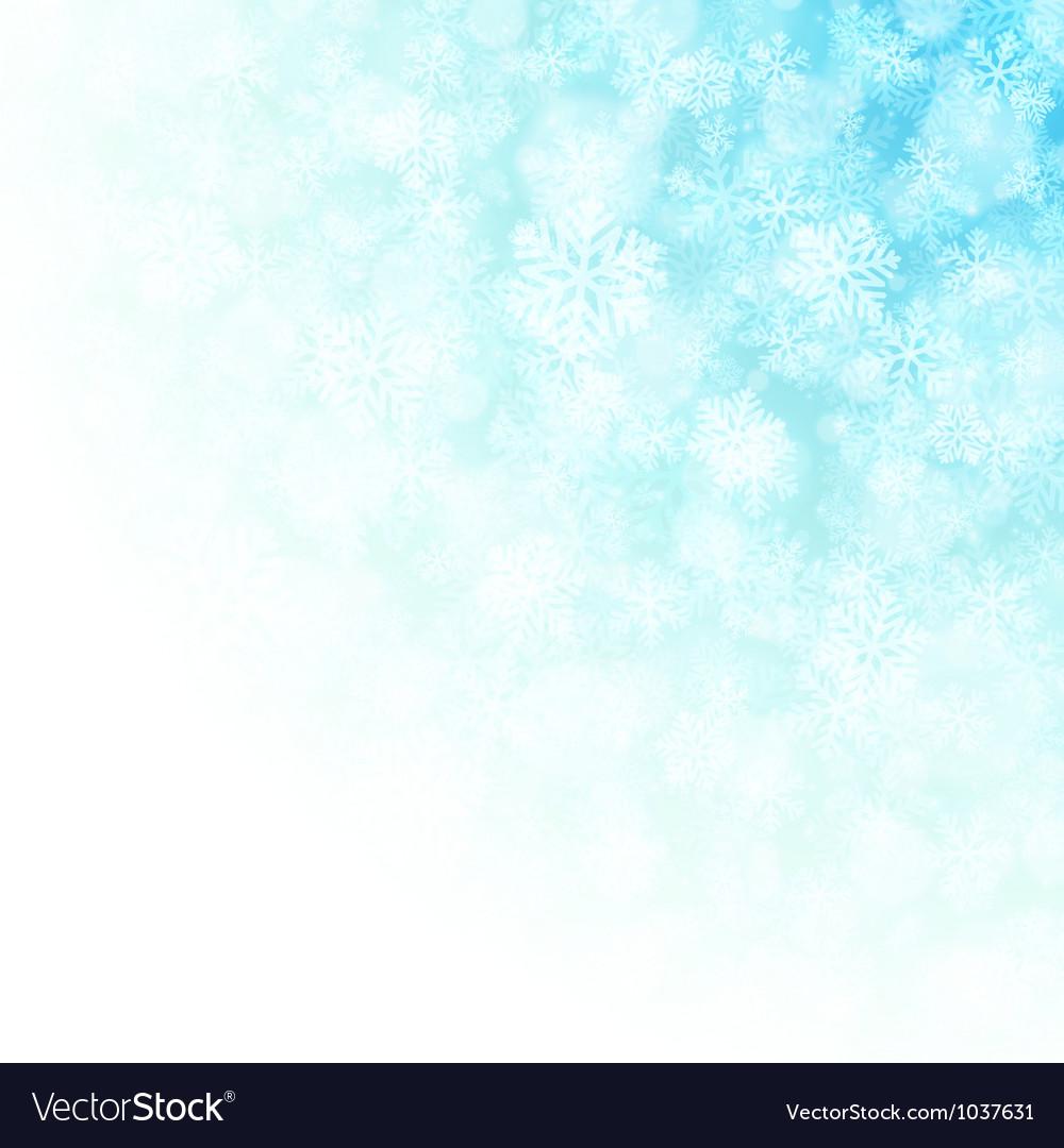 Christmas snowflakes and light vector image