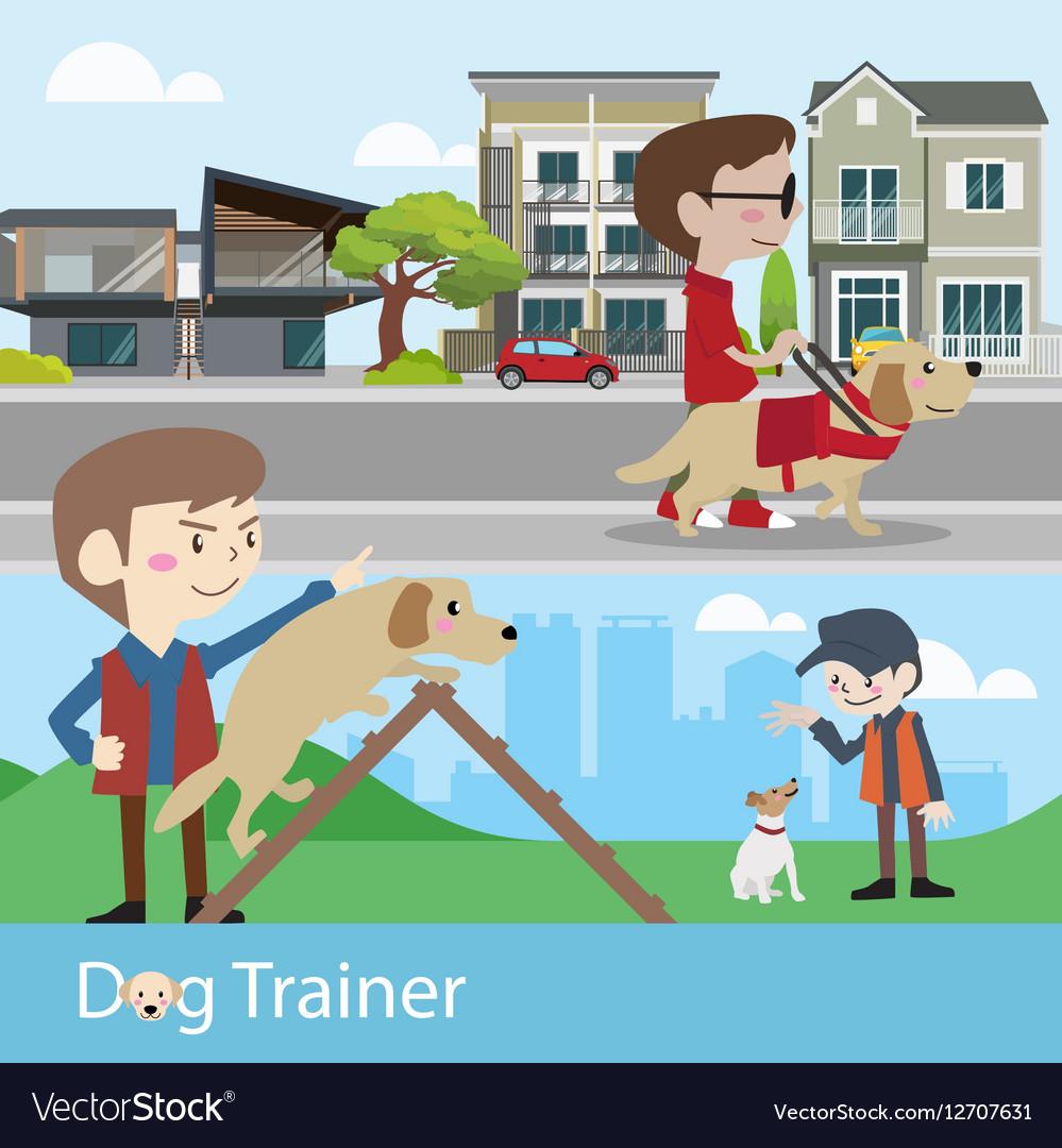 Dog trainer training