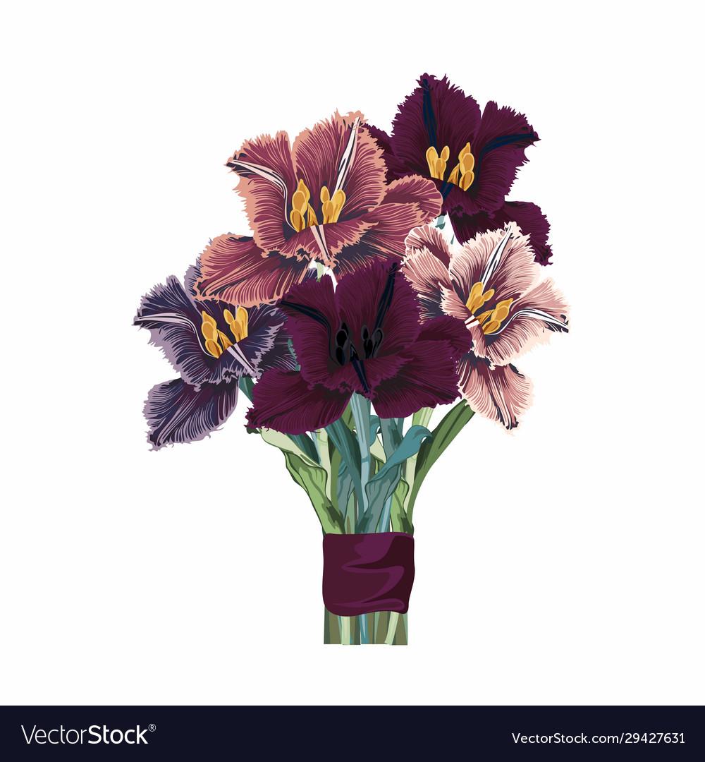 Flower bouquet floral bunch design object