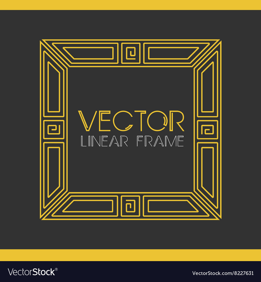 Geometric Linear Style Frame Art Deco Royalty Free Vector