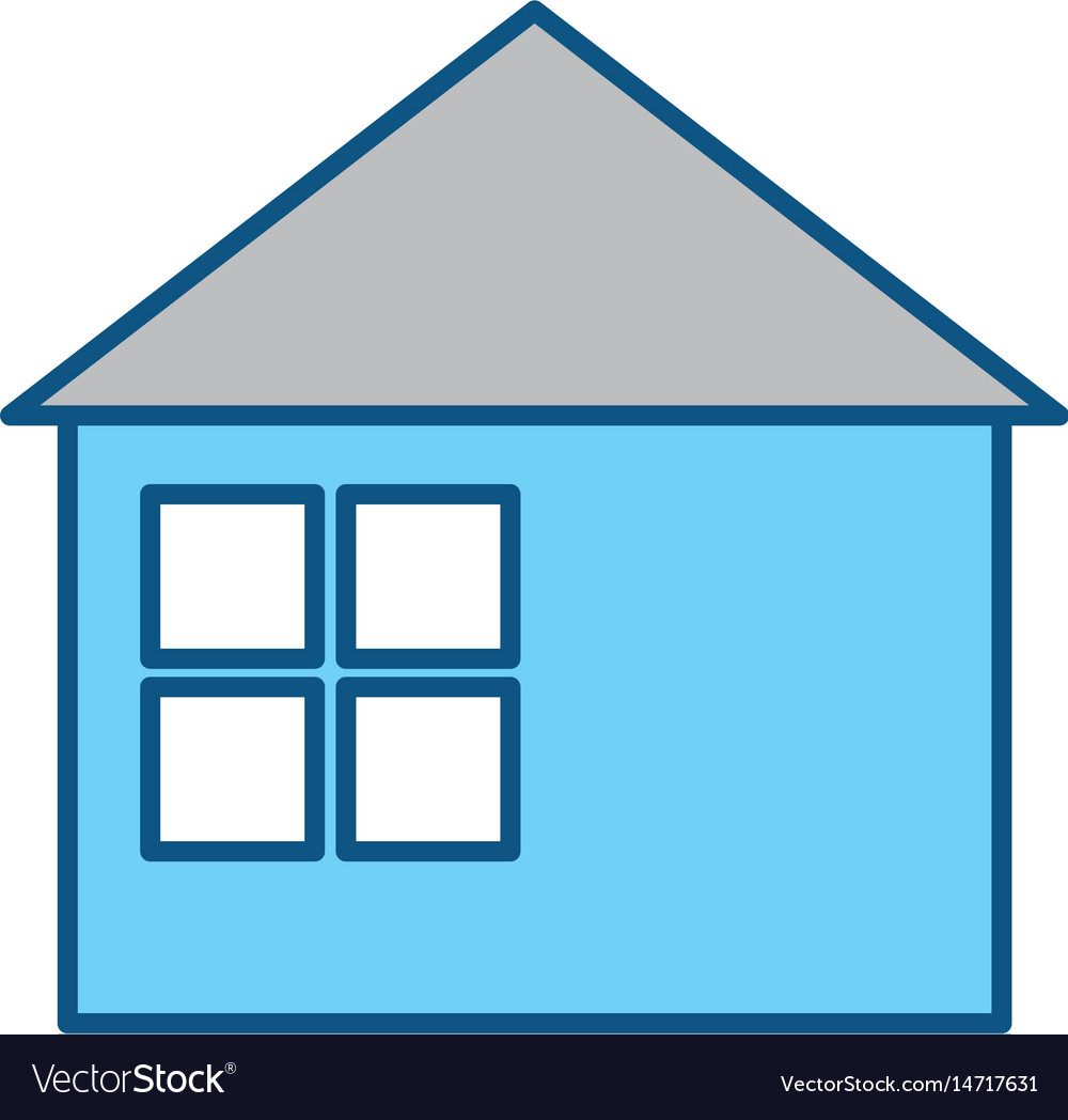 House building symbol vector image