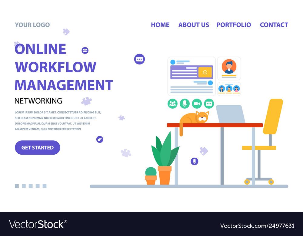 Management online workflow website service