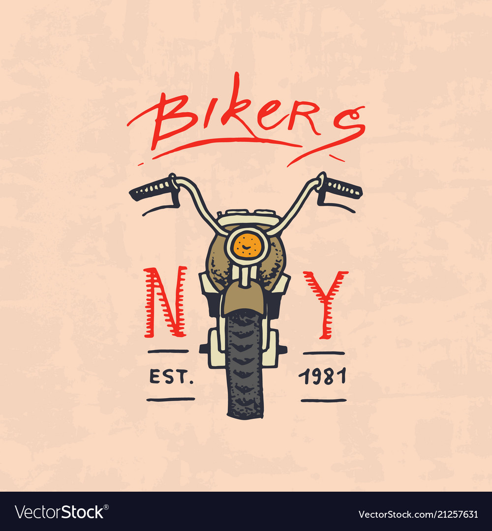 Motorcycles and biker club template vintage