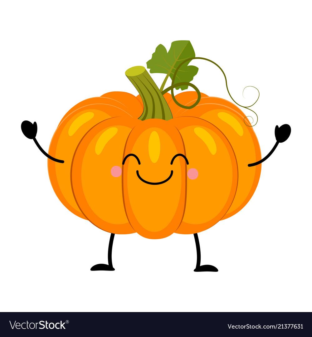 Pumpkin in flat style isolat