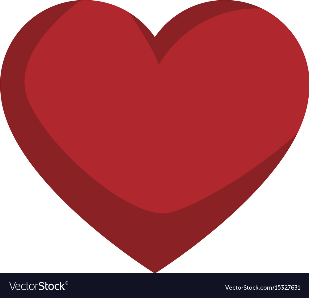 Red love heart gift romance icon