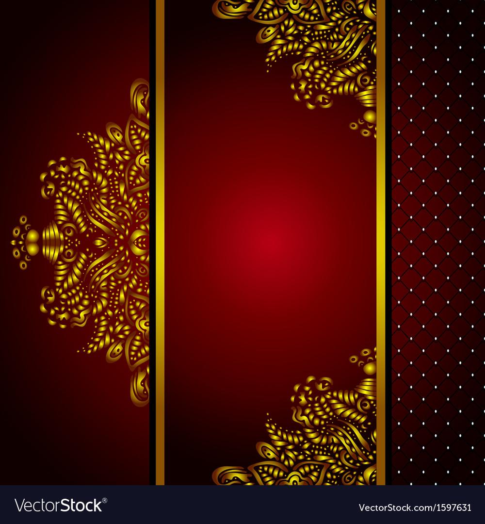 royal golden frame menu card royalty free vector image