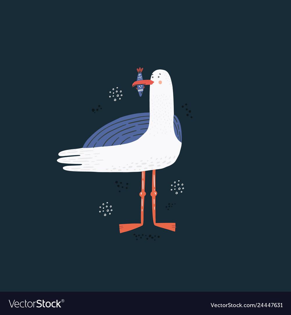 Seagull hand drawn