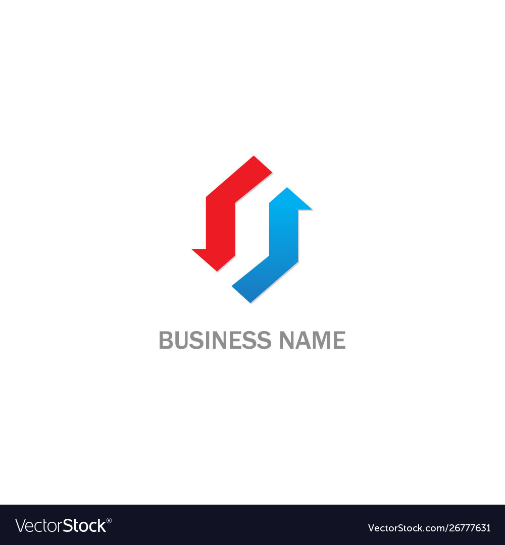 Shape circle arrow business logo