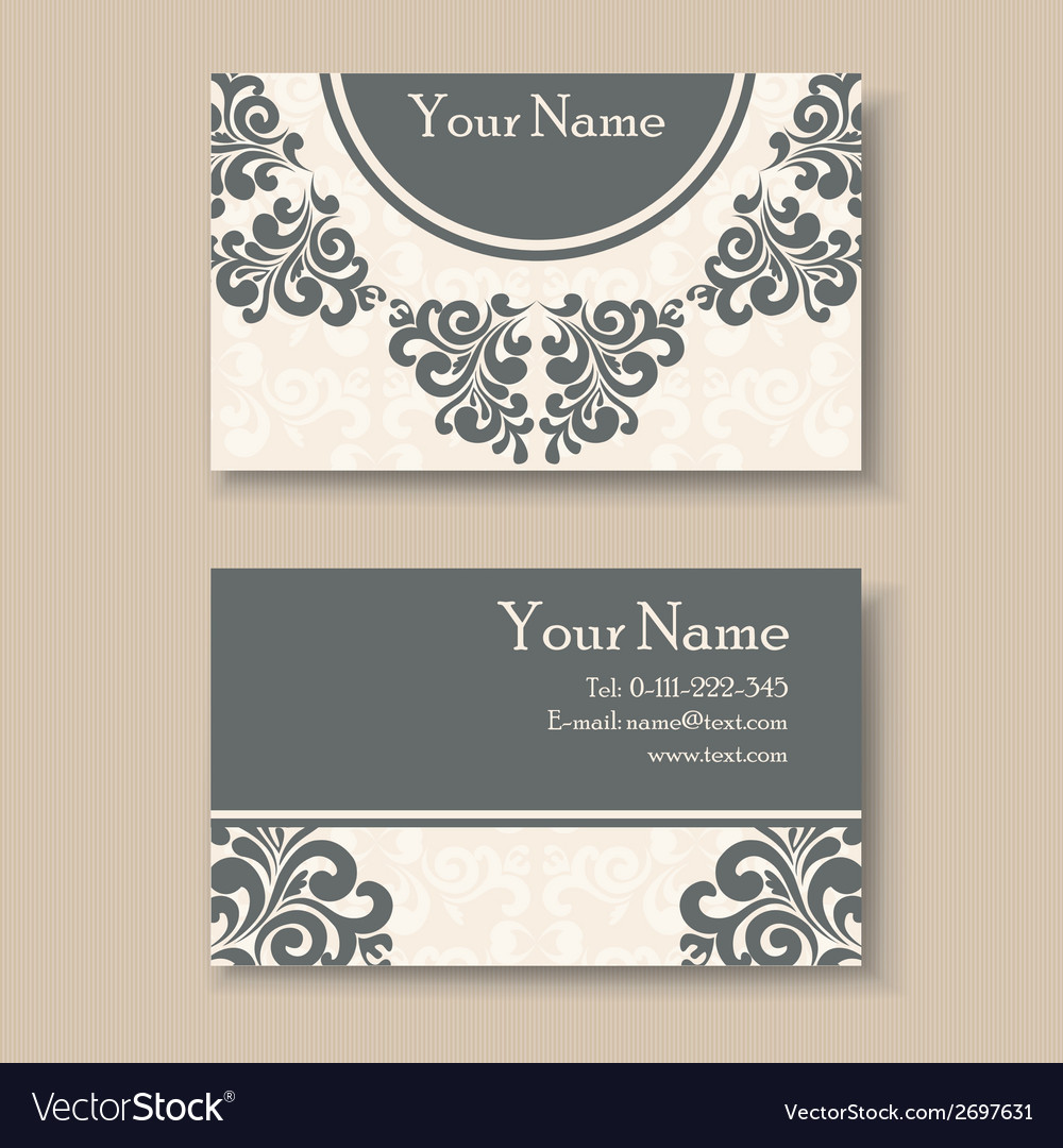 Vintage business card Royalty Free Vector Image