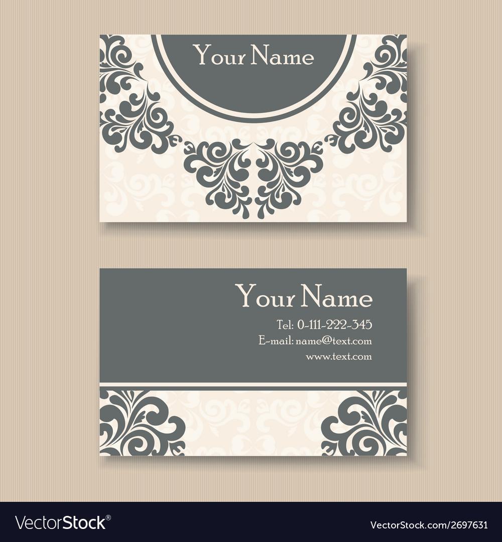 vintage business card vector image - Vintage Business Cards