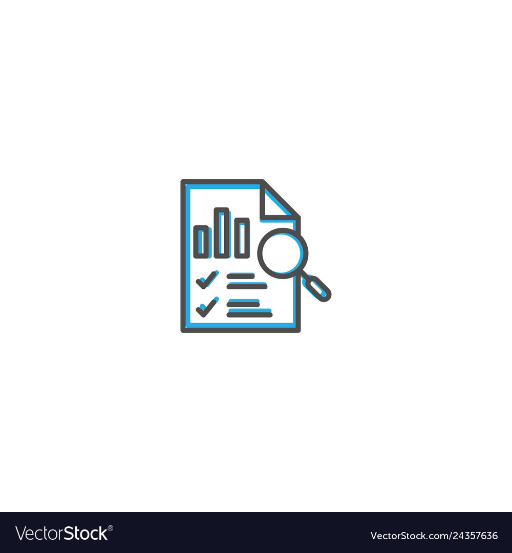 Bar chart icon design marketing icon line