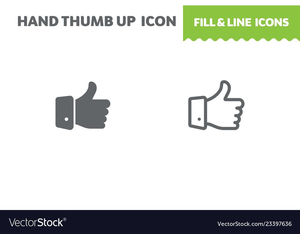 Hand thumb up