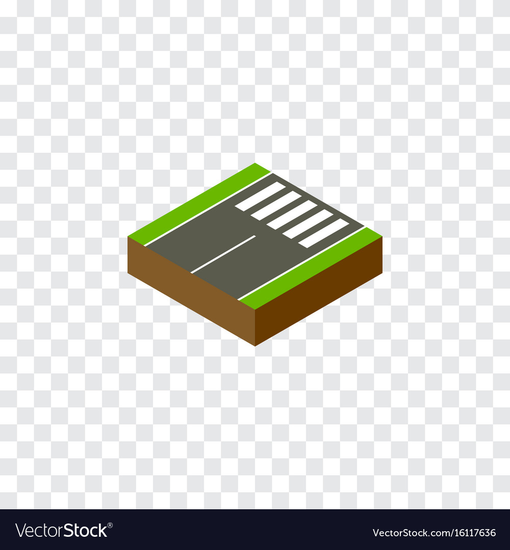Isolated foot-slogger isometric footer vector image