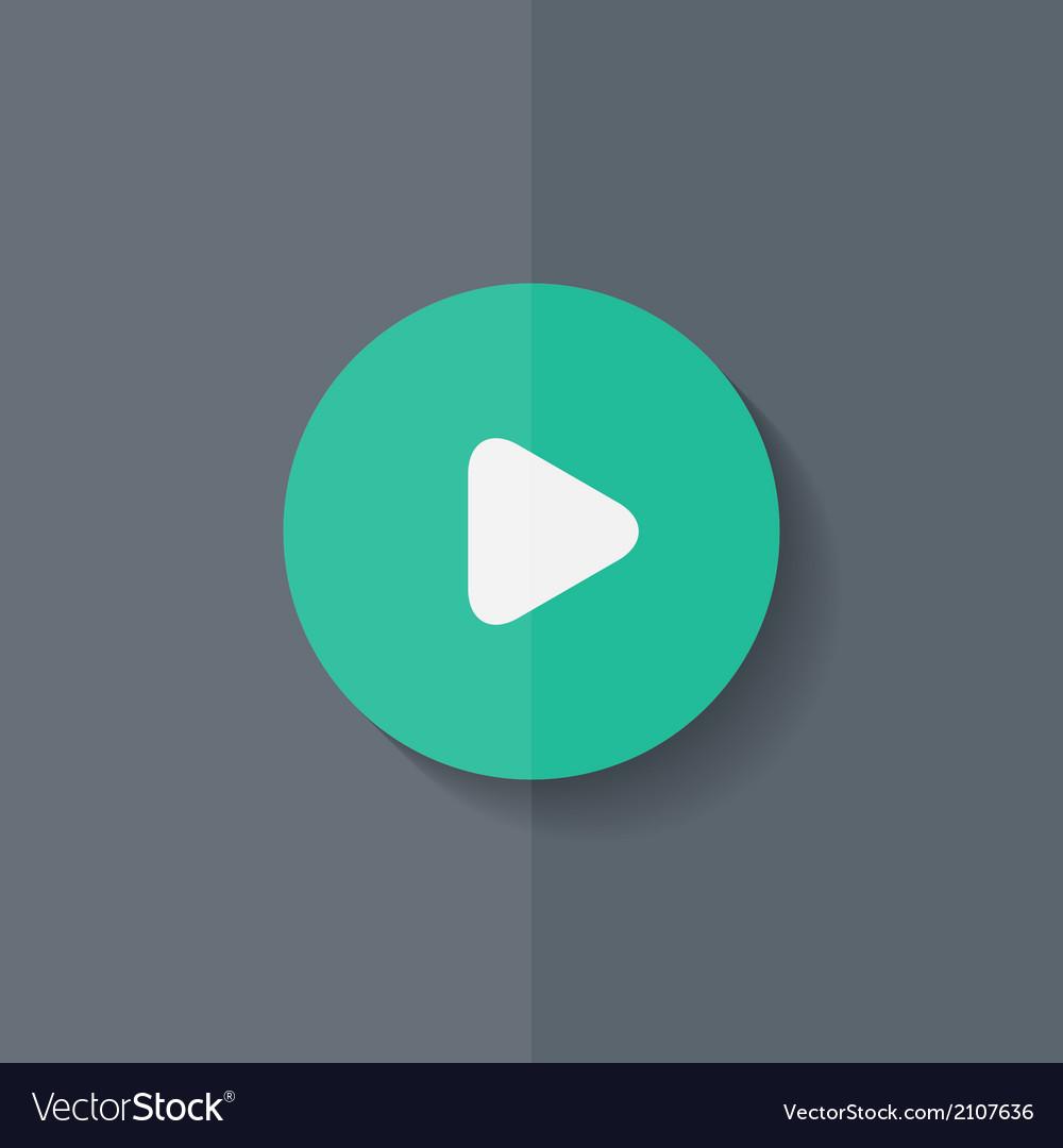 Media play icon Start music symbol Flat design