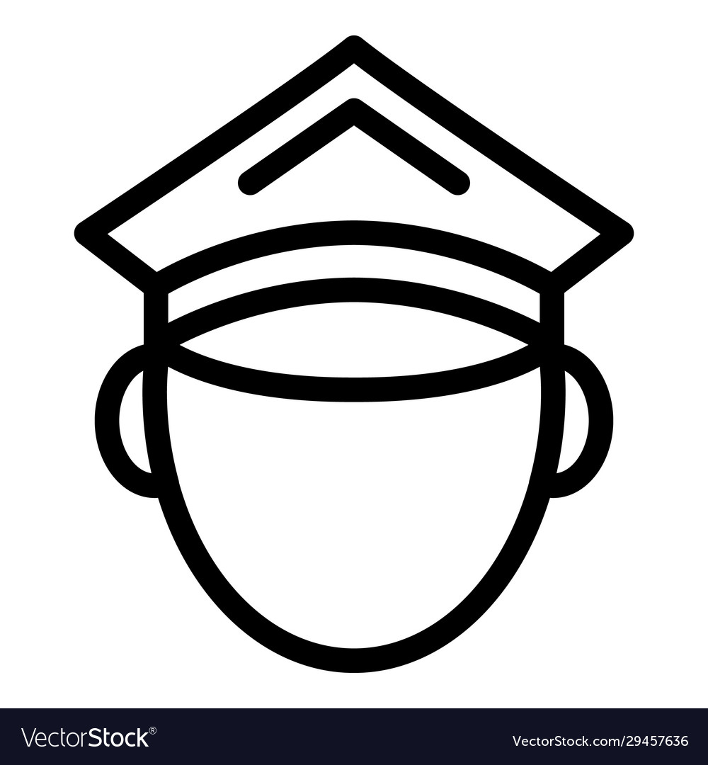 Police avatar icon outline style
