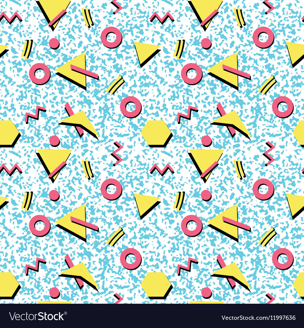 Seamless abstract pattern fashion 80-90s
