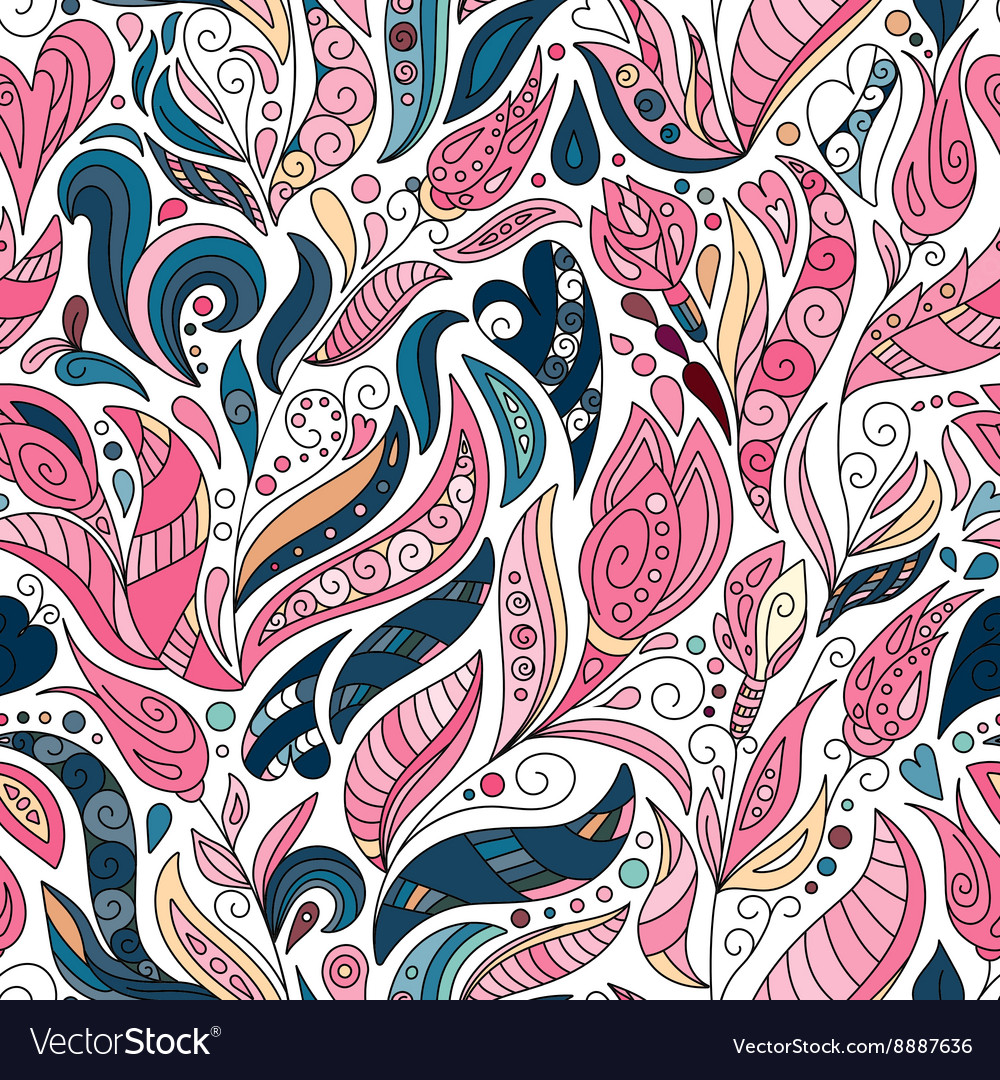 Seamless color pattern of spirals swirls vector image