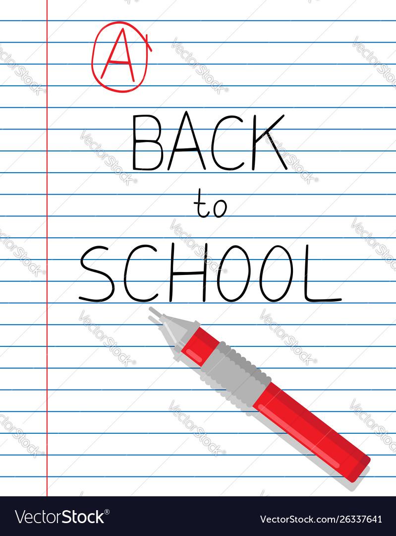 Back to school slogan
