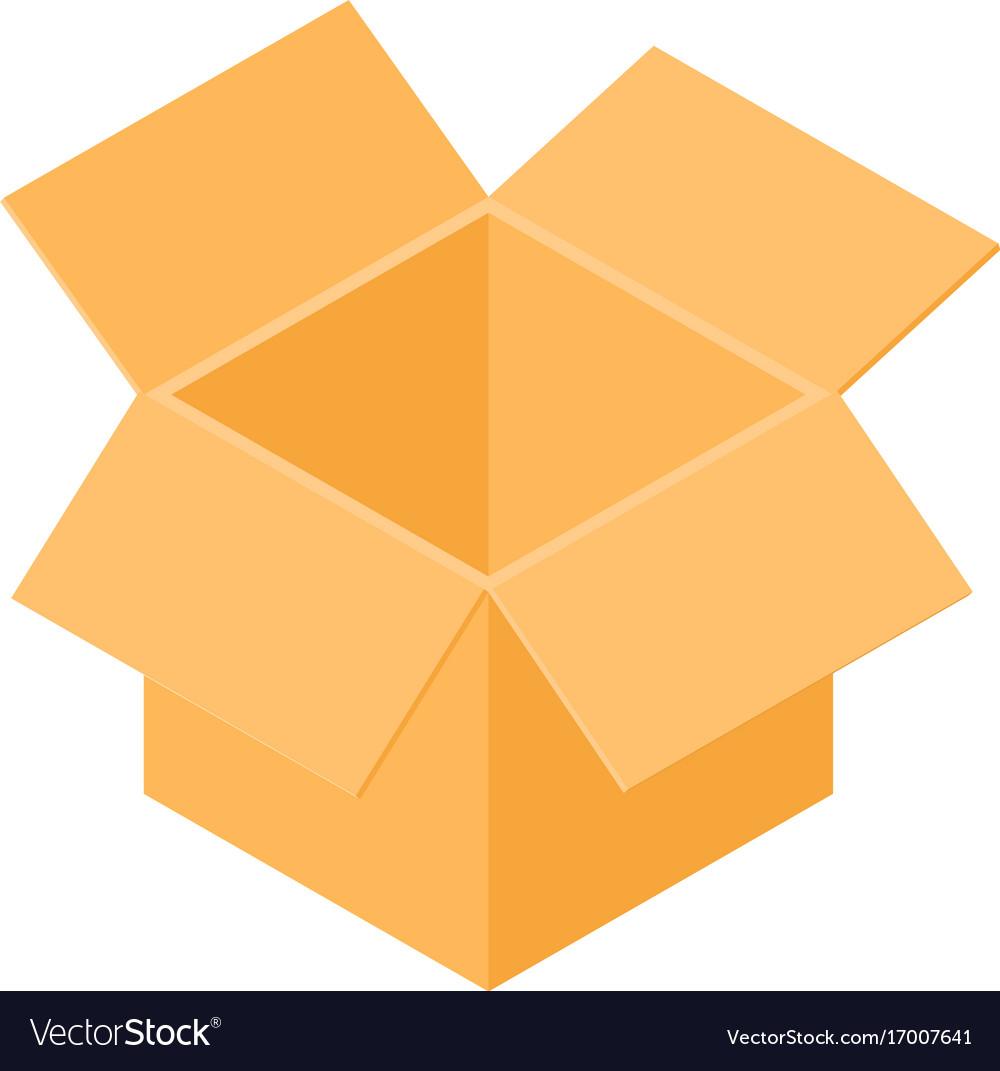 Box icon isometric 3d style vector image