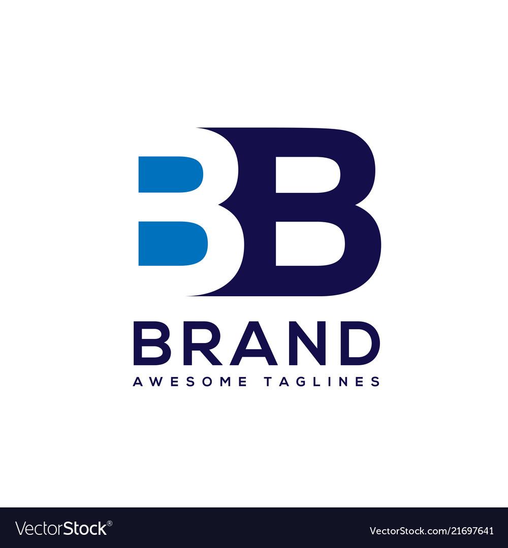 Creative letter bb logo design black and white