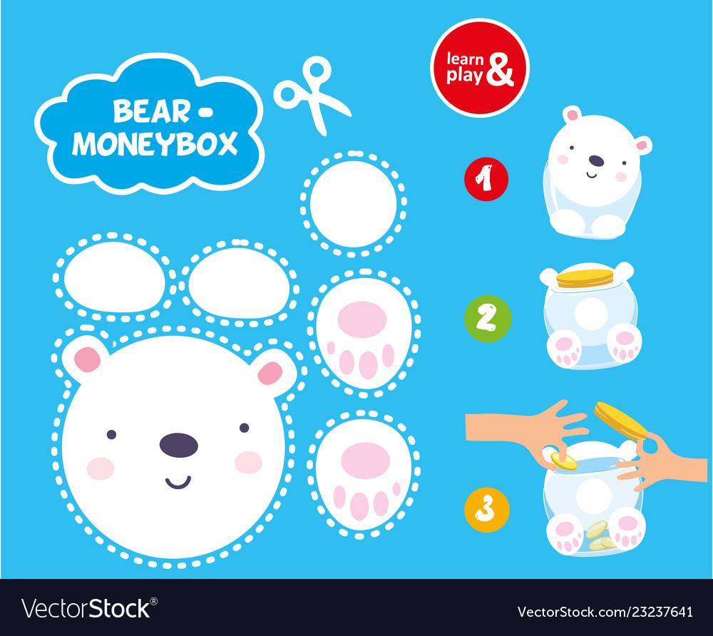 Make The Cut >> Cut Glue Children Paper Game To Make Moneybox