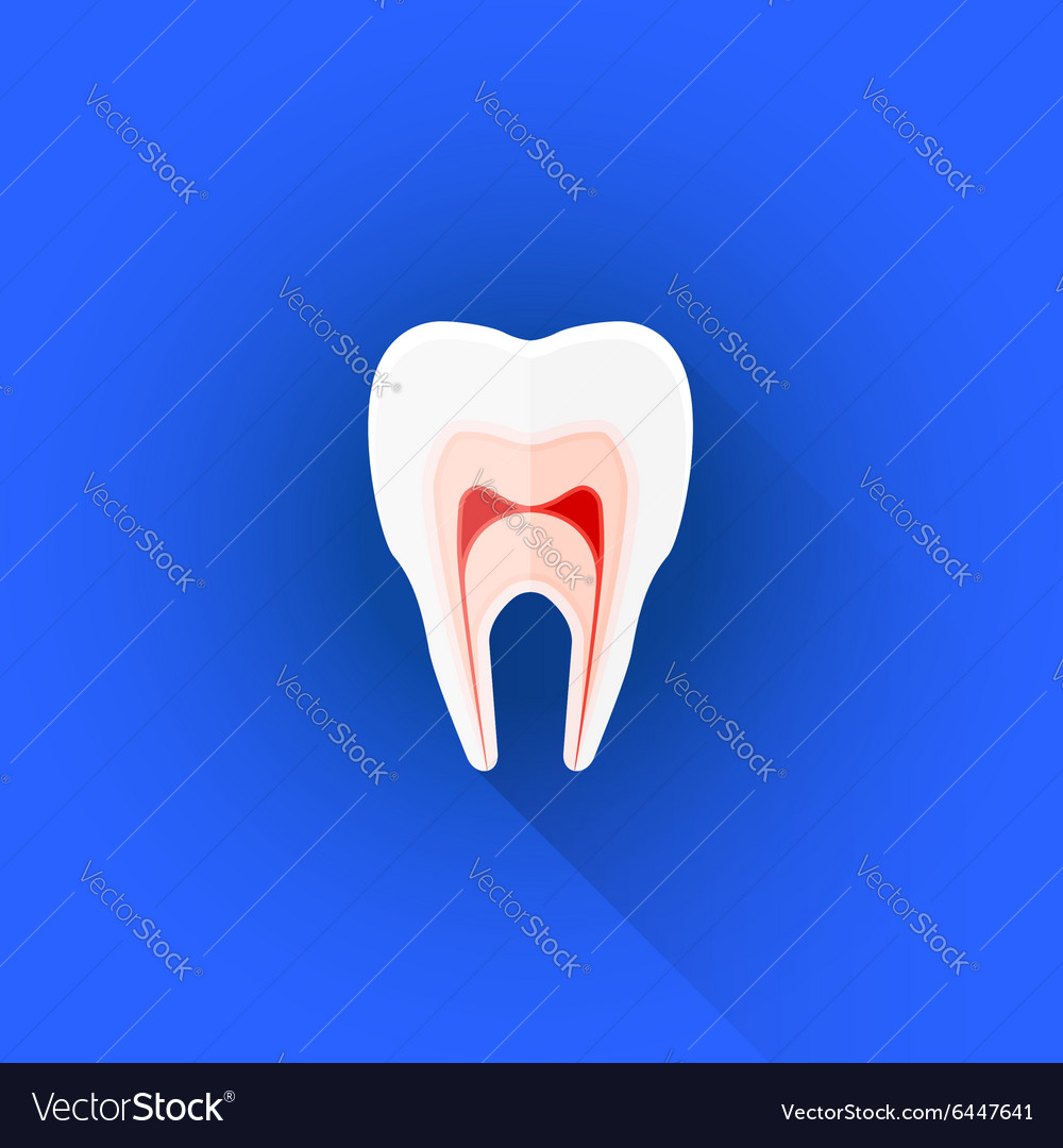 Flat structure of tooth icon