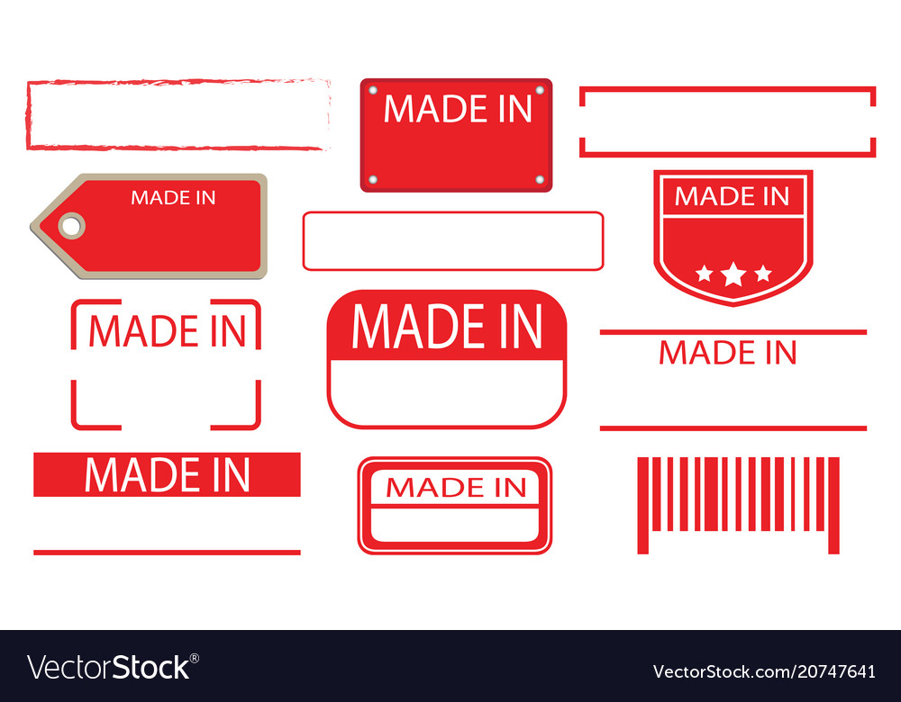 Made in label set 02