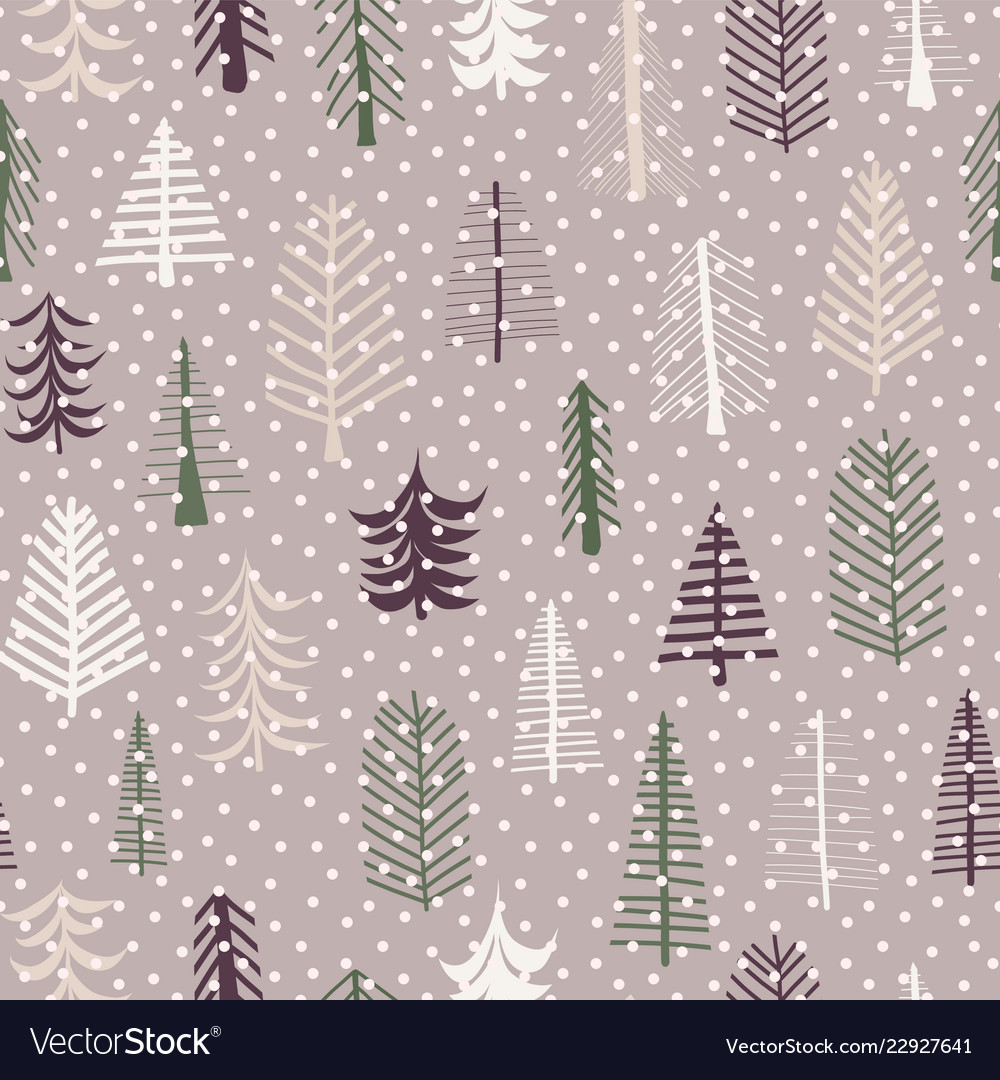 Seamless pattern christmas tree pattern repeat