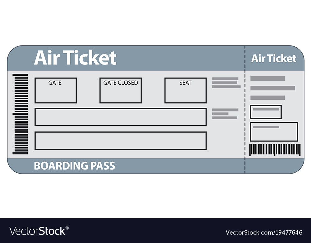 Air Ticket Template